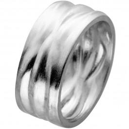 Ring Edelstahl mattiert mit strukturierter Oberfläche Vivien Lee Design