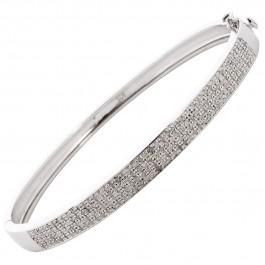 Diamant  Armreif Sterling Silber 925 Brillantarmreif Edelsteine