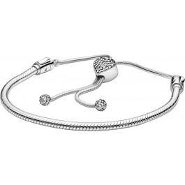 Pandora Armband 598699C01 Pandora Moments Pave 28cm Sliding Bracelet klare Zirkonia