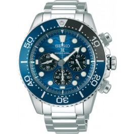 SEIKO Herrenuhr Prospex SSC741P1 Solar Chronograph Divers Save the Ocean 20bar Taucheruhr Samurai