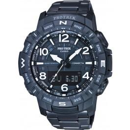 Casio Sports PRT-B50YT-1ER Pro Trek Herren Uhr Quarz Analog Digital Bluetooth Kompass Höhenmesser Barometer Thermometer Schwarz