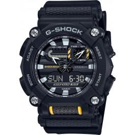 Casio G-Shock GA-900-1AER batterie resinarmband wasserdicht 20Bar weltzeitfunktion