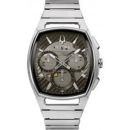 Bulova Uhr 96A257 Curv Chronograph Herren Edelstahl Grau/Silber