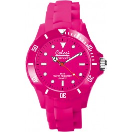 Colori Uhr, pink, 36mm,Silikonband, 5 ATM