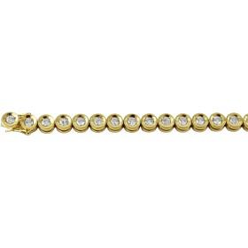 Tennis Armband - Gelbgold 750/- 34 Brillanten 3,00ct W/P