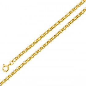 UNO A ERRE Ankerkette Gelbgold 375 halbmassiv