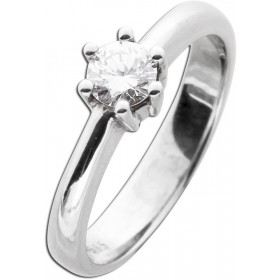 Diamantring Verlobungsring Weißgold 585 Brillant 0,45ct TW / Lupenrein