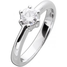 Diamantring Verlobungsring Weißgold 585 - 1 Brillant 0,53ct TW / Lupenrein