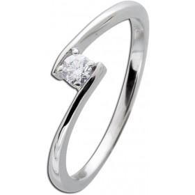 Verlobungsring Weißgold 585 Diamant 0,15ct W/SI Brillant Schliff