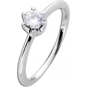 Verlobungsring Weißgold 585 Diamant 0,25ct W/SI Brillant Schliff