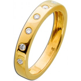 Ring Gelbgold 585 Brillanten 0,14ct W/SI