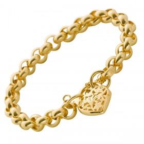 UNO A ERRE Armband Erbskette Gelbgold 375 Herzverschluss