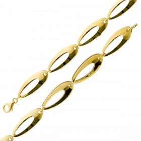 UNO A ERRE Armband Goldarmband Gelbgold  Weissgold 375