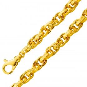 UNO A ERRE Armband Gelbgold 375 Kordelhalbmassiv 19cm