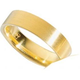 Trauring aus Gelbgold 750/- (18 Karat) , Breite 6,0 mm, Stärke 1,8 mm.