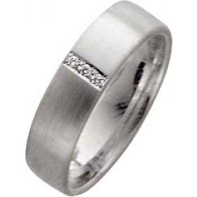Trauringe Weißgold 750 Diamanten Brillantschliff zus. 0,03ct W/SI