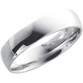 EheringTrauring Weißgold in 18k 750/,  Breite 5,0mm, Stärke 1,3mm der Ring ist hochglanz poliert die Gravur der Trauringe sowie das Etui ist im Preis enthalten und bei diesen einfarbigen Trauringen - Eheringen ist auch der kostenlose Auffrischungsservice