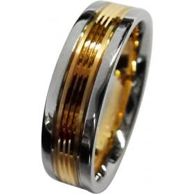 Trauring/Ehering/Hochzeitring in Platin 600 und Rosegold 585/-