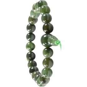 Heilsteine, Shamballa, Powerarmband mit grüner Jade -Nephrit