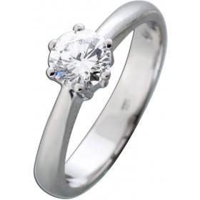Diamantring IGI zertifiziert Verlobungsring Weißgold 585 Brillant 0,74ct River D / VS