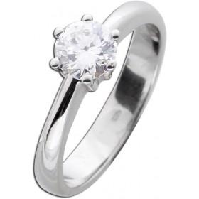 Solitär Ring Verlobungsring Weißgold 585 Brillant 0,76ct TW/VSI