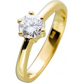 Solitärring Gold 585 Diamant Brillantschliff 0,72ct River E / VVS1 IGI Zertifikat