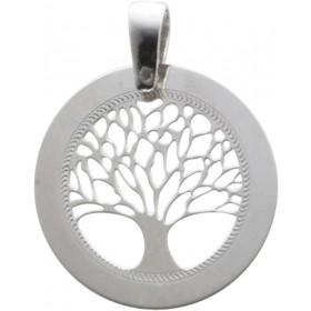 Lebensbaumanhänger Silber Sterlingsilber rhodiniert