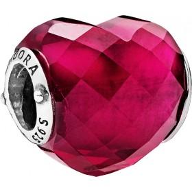 PANDORA Charm 796563NFR Liebes Herz kirschrot Sterling Silber 925 Kristall