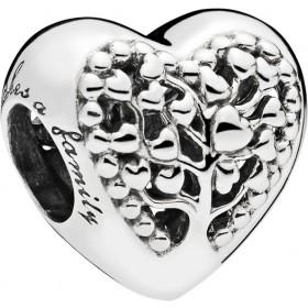 PANDORA Charm 797058 Flourishing Hearts Sterling Silber 925 Herz Lebensbaum Optik
