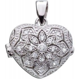 Medaillon Herz Sterling Silber 925  Zirkonia