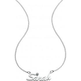 Namenskette in Silber Sterlingsilber 925/- mit Zirkonia