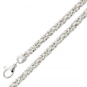 Königskette 4mm Königsarmband Sterling Silber 925