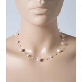 Perlenkette - Perlencollier Perlenreif  Sterling Silber 925 Süsswasserzuchtperlen