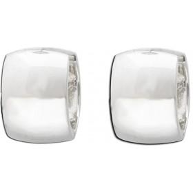 Ohrringe - Klappcreolen Sterling Silber 925 rhodiniert