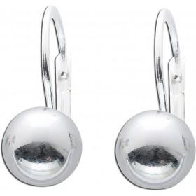 Ohrringe Ohrhänger Sterling Silber 925 Kugel Ø 8mm