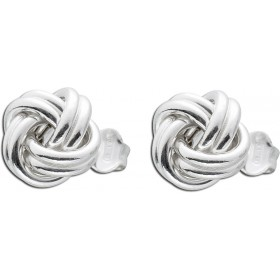 UNO A ERRE Ohrringe Ohrstecker Knotenform Sterling Silber 925 Ø 8mm