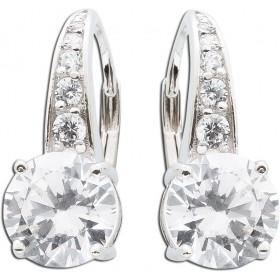 Ohrringe Zirkonia Ohrhänger Silber 925 opulent