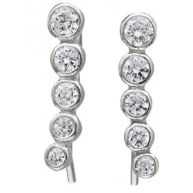 Ohrringe - Fake Piercing Sterling Silber 925 Zirkonia