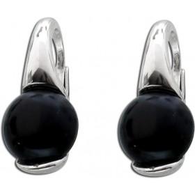 Ohrringe - Ohrhänger Silber 925 Onyx