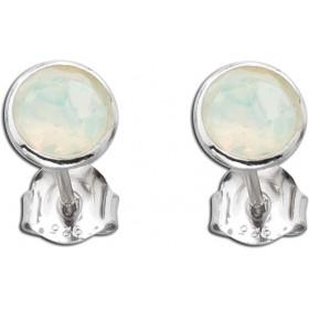 Ohrringe - Ohrstecker Silber 925 mit äthiopischer Opal Ø 7,5mm