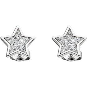 Stern Ohrstecker Sterling Silber 925 Glitzerpartikel