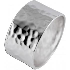 Silberring Sterling Silber 925 Hammerschlag poliert extravagant