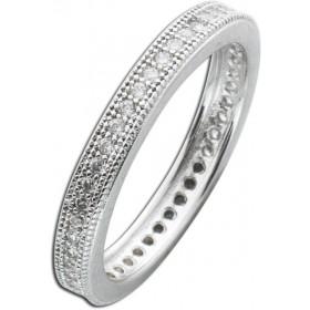 Ring Sterling Silber 925 Zirkonia Memoire Ring
