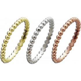 Ring Silber Sterlingsilber rhodiniert gelbvergoldet rotvergoldet 3-teilig