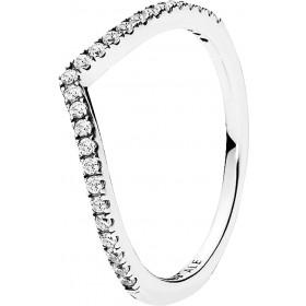 Pandora Ring 196316CZ Sterling Silber 925 Funkelnder Wunsch klare Cubic Zirkonia