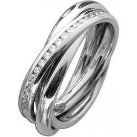 Trinity Ring Edelstahl T-Y Zirkonia