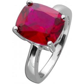 Edelstein Ring Sterling Silber 925 rekonstruierten Rubin