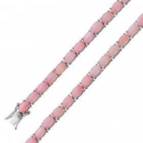 Armband Sterling Silber 925 pinke Opale