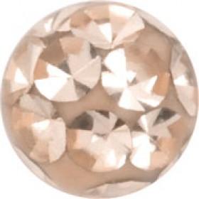Gewindekugeln Bauchnabelpiercing Chirurgenstahl 1,2mm Gewindestärke Kugelfarbe light peach