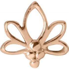 Medusa Piercing Bioplast Sterling Silber 925 Aufsatz Labret Lotus Blatt rosegold PVD